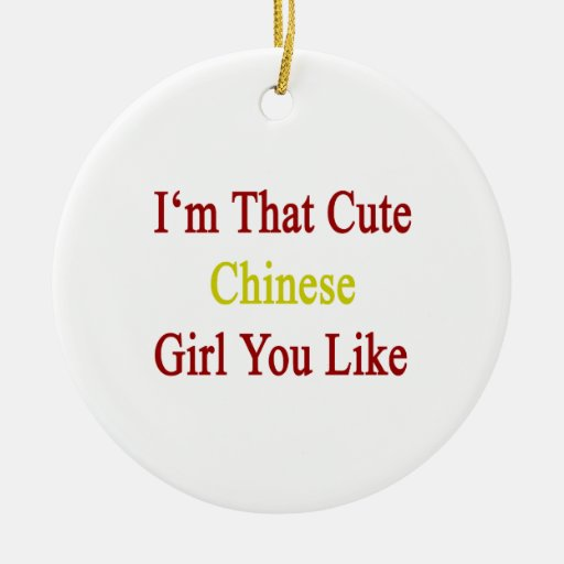Soy que chica chino lindo que usted tiene gusto adorno de navidad