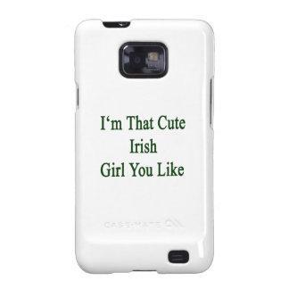 Soy que chica irlandés lindo que usted tiene gusto samsung galaxy s2 fundas