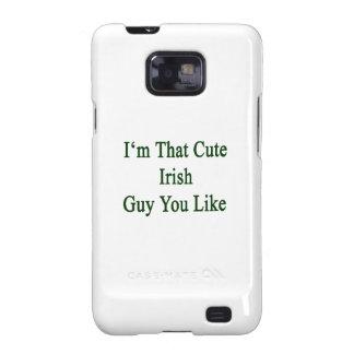 Soy que individuo irlandés lindo que usted tiene samsung galaxy SII carcasa