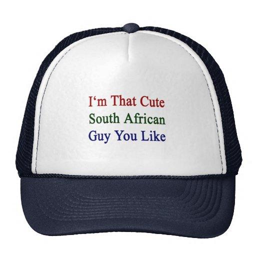 Soy que individuo surafricano lindo que usted tien gorros bordados