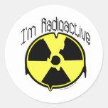 Soy radiactivo pegatina