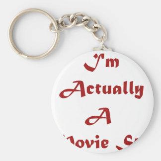 Soy realmente estrella de cine llavero redondo tipo pin