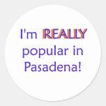 Soy realmente popular pegatina redonda