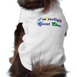 Soy realmente una camisa del mascota de great dane playera sin mangas para perro