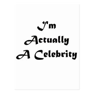 Soy realmente una celebridad postal