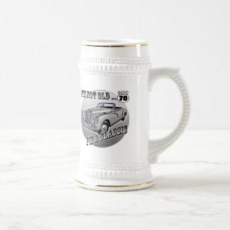 Soy regalos 70.os de un cumpleaños clásicos jarra de cerveza