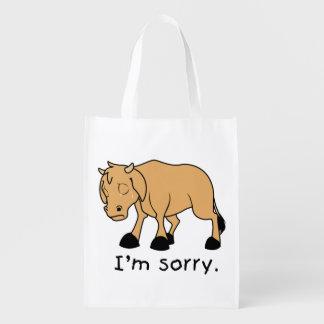 Soy reloj triste gritador triste de la taza del bolsa de la compra