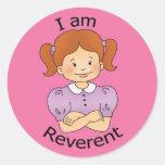 Soy reverente pegatina