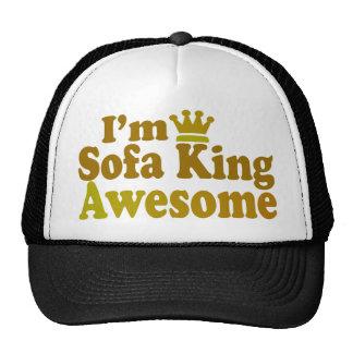 Soy rey Awesome del sofá Gorro De Camionero