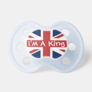 Soy rey en azul chupetes para bebes