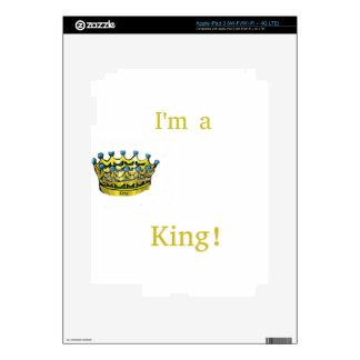 Soy rey iPad 3 skins