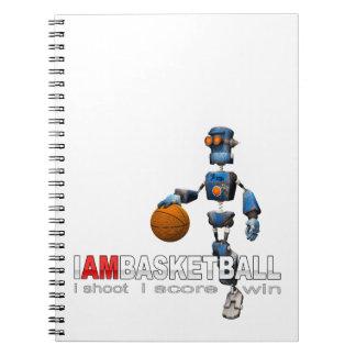 Soy robot del baloncesto cuaderno