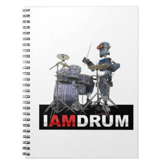 Soy robot del tambor cuaderno
