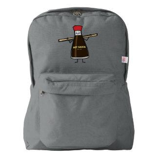 Soy Sauce Bottle condiment Asian chopsticks American Apparel™ Backpack