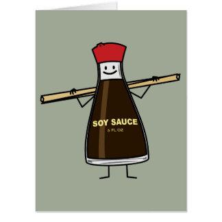 Soy Sauce Bottle condiment Asian chopsticks Card