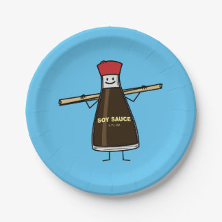 Soy Sauce Bottle condiment Asian chopsticks Paper Plate