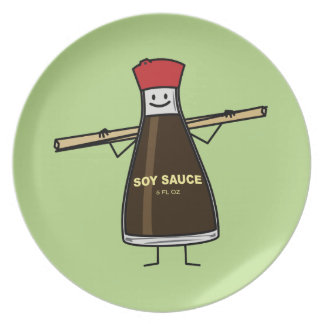 Soy Sauce Bottle condiment Asian chopsticks Plate