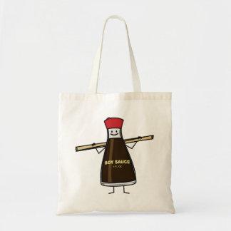 Soy Sauce Bottle condiment Asian chopsticks Tote Bag
