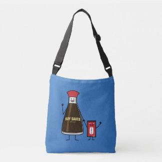 Soy Sauce Bottle Packet kid child condiment Asian Crossbody Bag