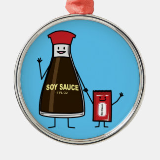 Soy Sauce Bottle Packet kid child condiment Asian Metal Ornament