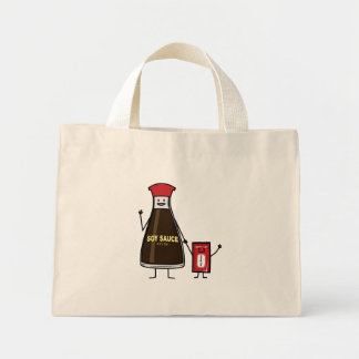 Soy Sauce Bottle Packet kid child condiment Asian Mini Tote Bag