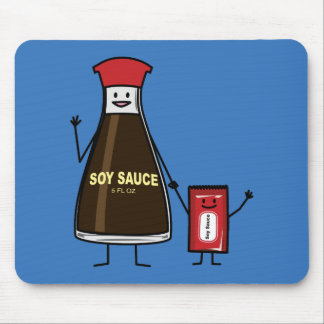 Soy Sauce Bottle Packet kid child condiment Asian Mouse Pad