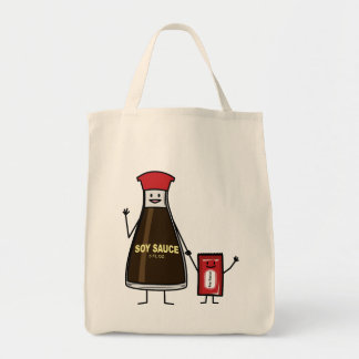 Soy Sauce Bottle Packet kid child condiment Asian Tote Bag