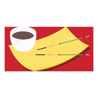 Soy Sauce Chopsticks Photo Card