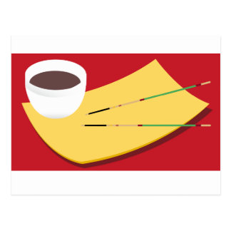 Soy Sauce Chopsticks Postcard