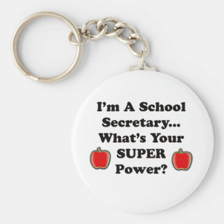Soy secretaria de la escuela llavero redondo tipo pin