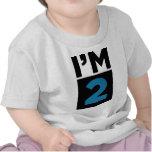Soy segunda camisa del cumpleaños de dos azules