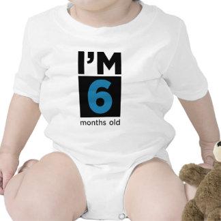 Soy seis meses azules trajes de bebé