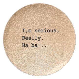 Soy serio, realmente. Ha ha. Platos De Comidas