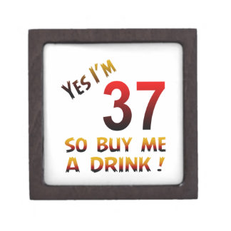 ¡Soy sí 37 así que cómpreme una bebida! Cajas De Joyas De Calidad