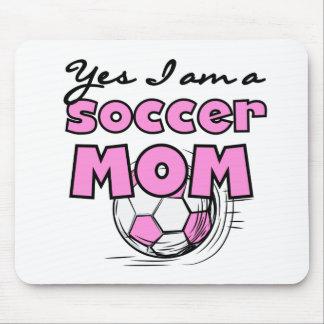 Soy sí camisetas y regalos de una mamá del fútbol tapetes de ratón