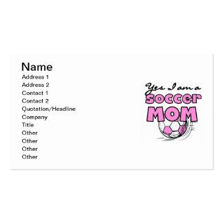 Soy sí camisetas y regalos de una mamá del fútbol plantillas de tarjetas de visita