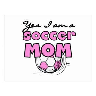 Soy sí camisetas y regalos de una mamá del fútbol tarjetas postales