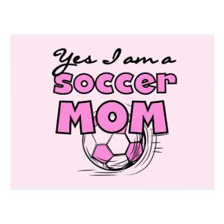 Soy sí camisetas y regalos de una mamá del fútbol tarjeta postal