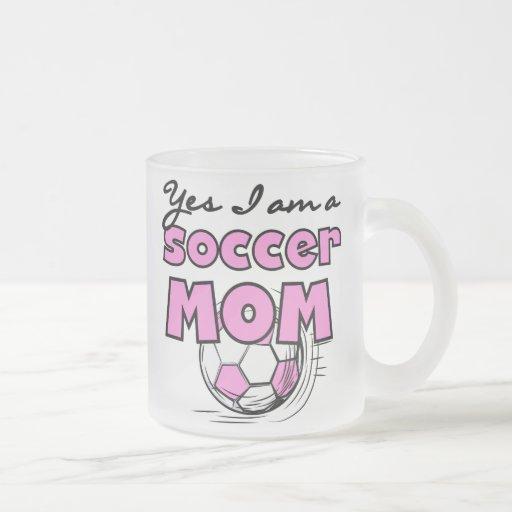 Soy sí camisetas y regalos de una mamá del fútbol tazas de café