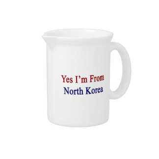 Soy sí de Corea del Norte Jarras Para Bebida