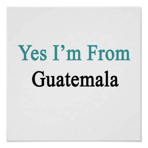 Soy sí de Guatemala Poster