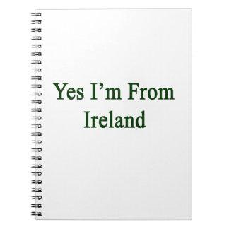 Soy sí de Irlanda Libro De Apuntes Con Espiral