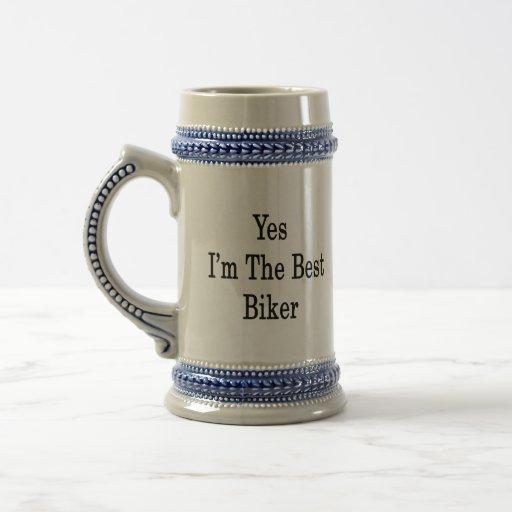 Soy sí el mejor motorista tazas de café
