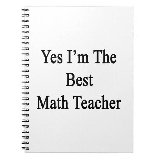 Soy sí el mejor profesor de matemáticas cuaderno