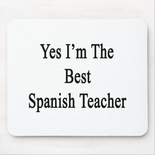 Soy sí el mejor profesor español tapete de ratón