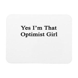 Soy sí ese chica del optimista imán de vinilo