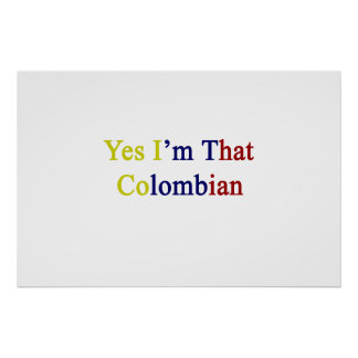 Soy sí ése colombiano poster