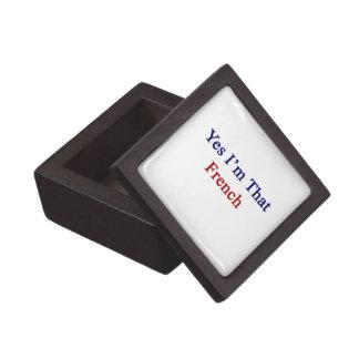 Soy sí ese francés cajas de recuerdo de calidad