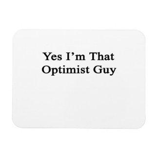 Soy sí ese individuo del optimista imán foto rectangular