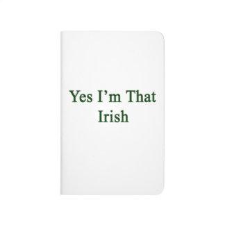 Soy sí ese irlandés cuaderno